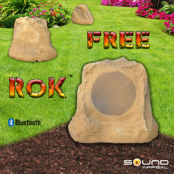Grey Slate 100 Ft Wireless Range Sound Appeal Free Rok Outdoor Speakers Pair